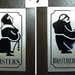 Holy Island funny bathroom sign