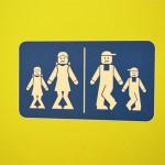 Lego Land funny bathroom sign