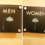 Rain funny bathroom sign