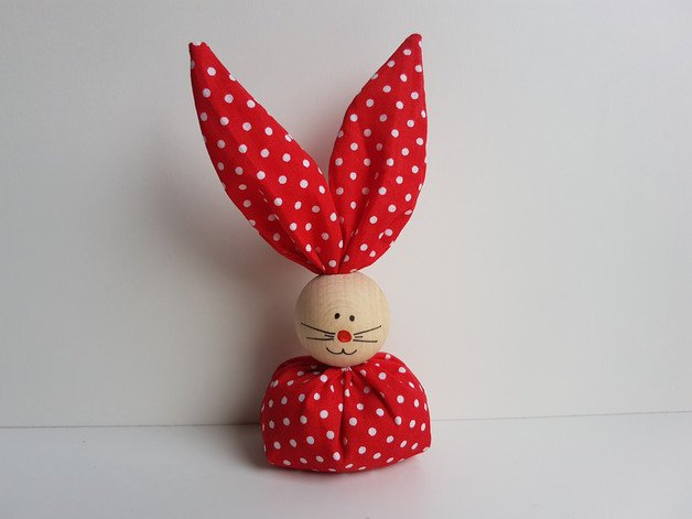 Red Handmade Easter Treat Bag