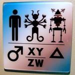 Sci fi Museum funny bathroom sign