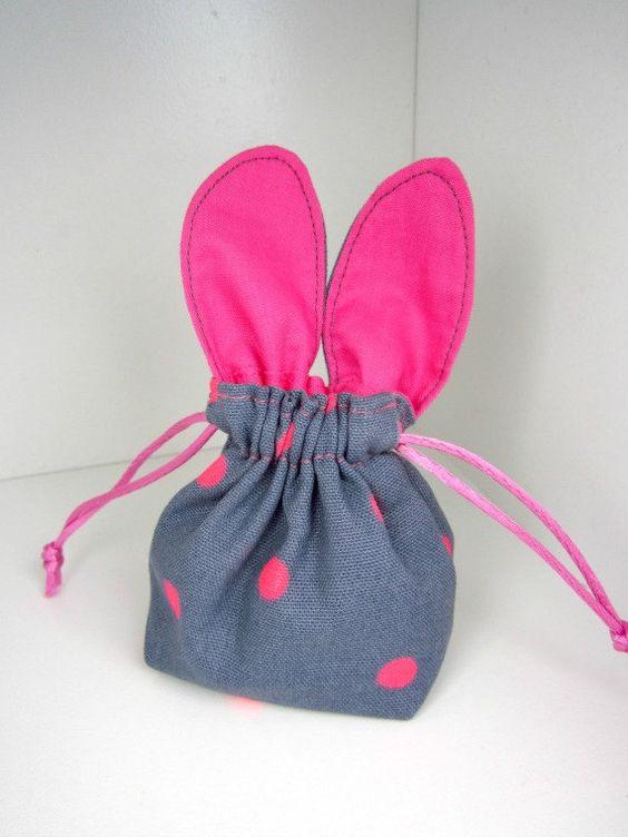Simple Drawstring Gift Bag For Easter