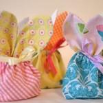 Textile Easter bunny treat bag idea
