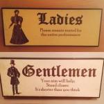 funny bathroom sign advices