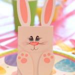paper Easter bunny treat bag