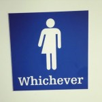 whichever funny bathroom sign