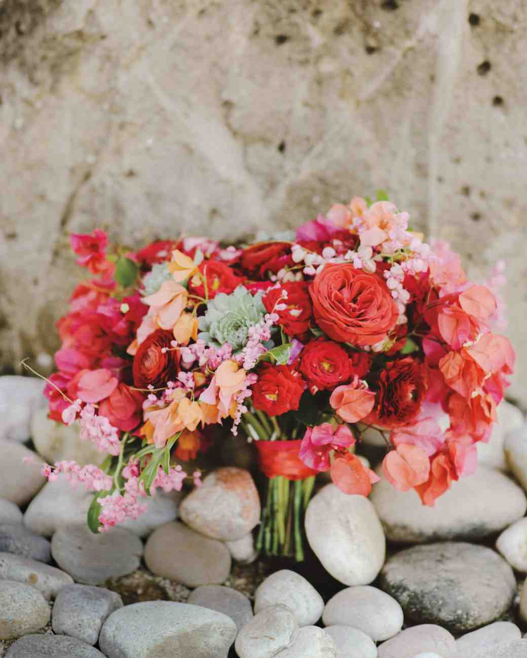 bougainvillea, garden and tea roses, succulents, and coral ...