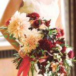 dahlias wedding bouquet