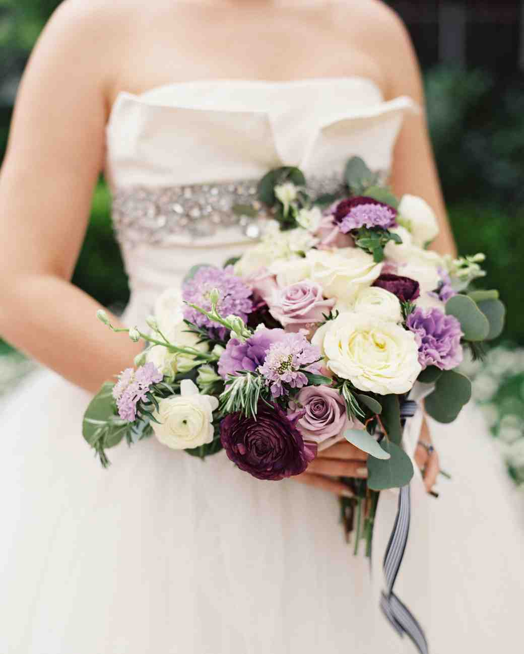 Garden Roses Lisianthus Scabiosa Ranunculus And Larkspur With Rosemary And Eucalyptus Wedding Bouquet Creative Ads And More