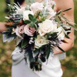 roses and fresh greenery wedding bouquet wedding bouquet
