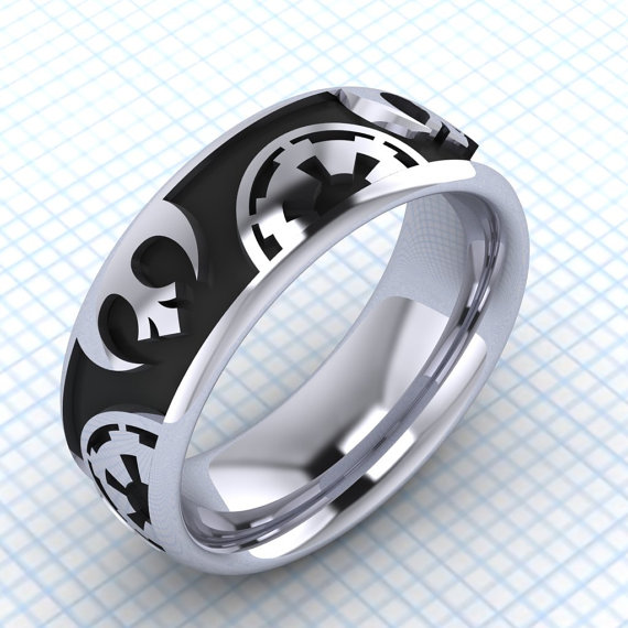 Star wars inspired wedding ring rebel alliance for Star wars wedding rings