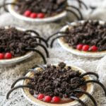 Chocolate Pudding Spider Pies