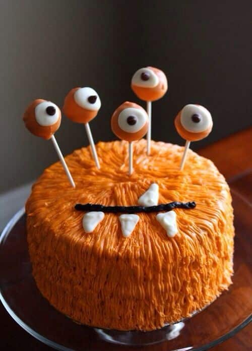 Furry Monster Halloween Cake | Creative Ads and more…
