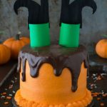 Halloween Melted Witch Cake