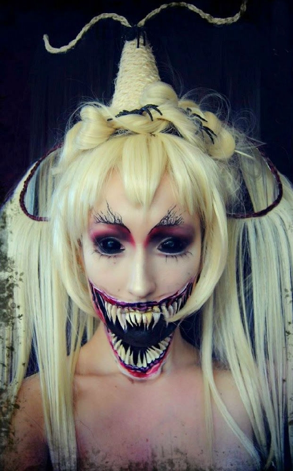 scary-demon-face-paint-halloween-makeup-idea | Creative Ads and more…