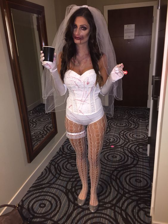 Slutty Halloween Zombie Bride