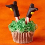 Witch Legs Halloween Cupcake