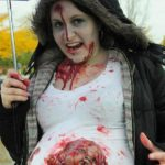 Pregnant Mom Halloween Costume Bloody Gore Baby