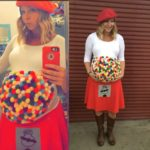Pregnant Mom Halloween Costume Candy