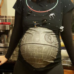 Pregnant Mom Halloween Costume Death Star