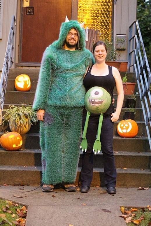 pregnant mom halloween costume monster - Pregnant Mom Halloween Costume