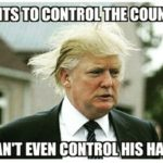 Donald Trump Meme Wants To Control The Country Cant Even Control His Hair I