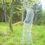 Chicken Wire Halloween Ghost Figure