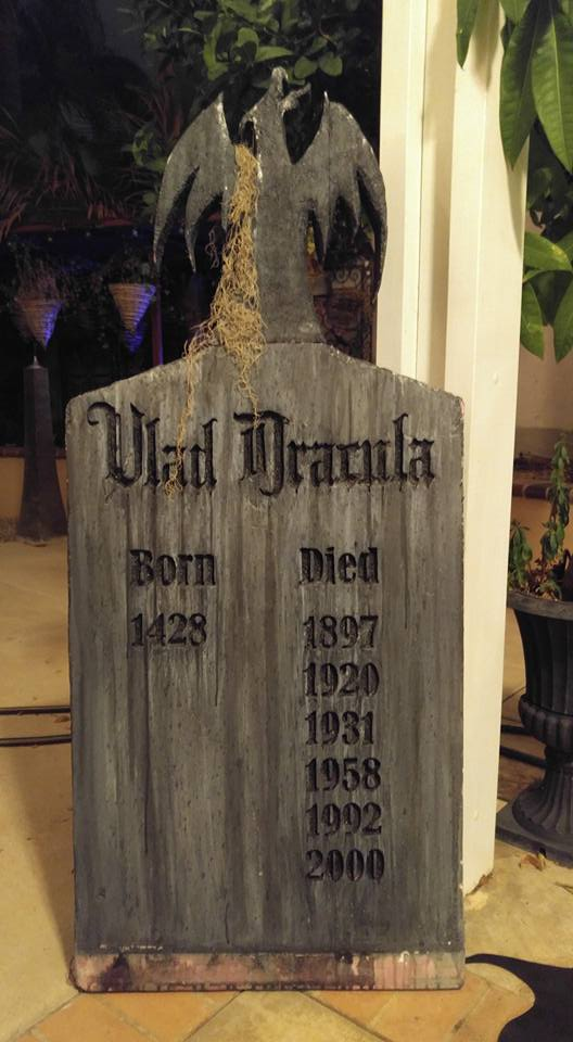 Dracula Tomb Stone Halloween Decoration