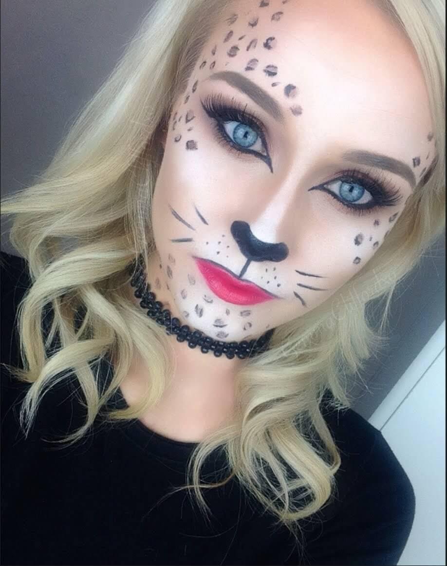 leopard halloween makeup idea