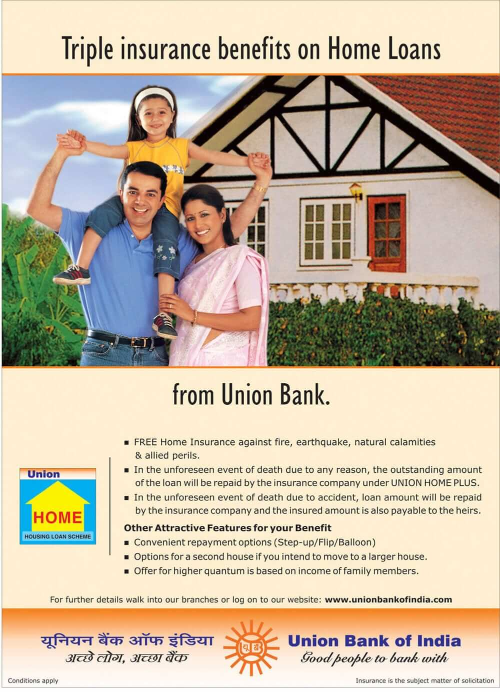 union bank mortgage ad creative ads and more. Black Bedroom Furniture Sets. Home Design Ideas
