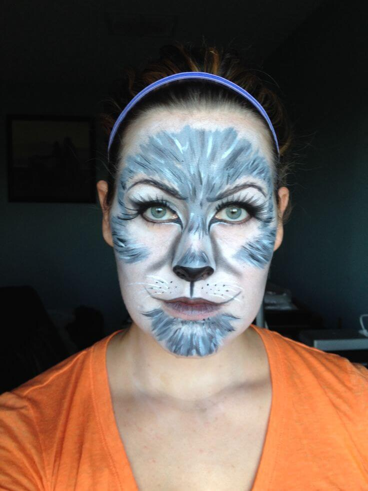 Wolf Animal Halloween Makeup Idea | Creative Ads and more…
