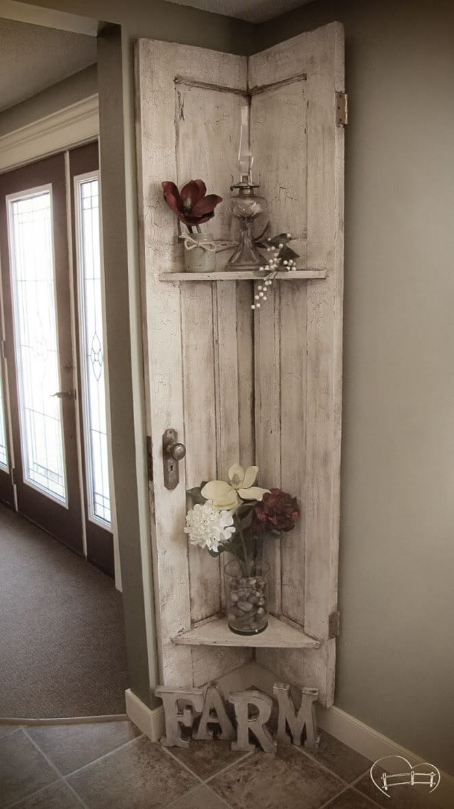 Awesome Rustic Corner Shelf