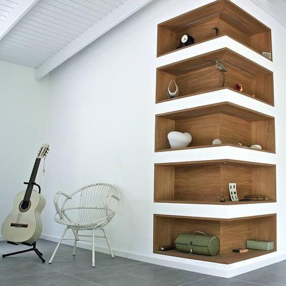 Inside corner shelves idea creative ads and more - Cool closet bathroom design and interior ...