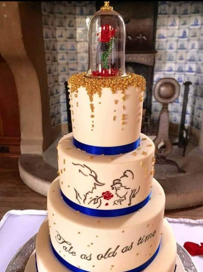 Beauty And The Beast Cake From Lindsay Berry