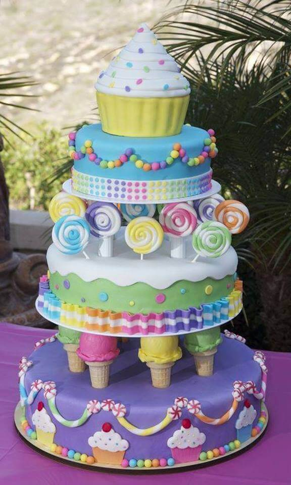 Ice Cream And Candy Cake From Cake Central