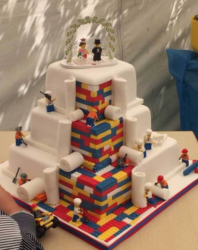 Lego Wedding Cake From Cupcakes By SJ