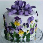 Spring Purple Flower Cake From Faz Bakery