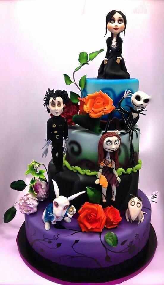 Tim Burton Cake From Sara Giustizieri