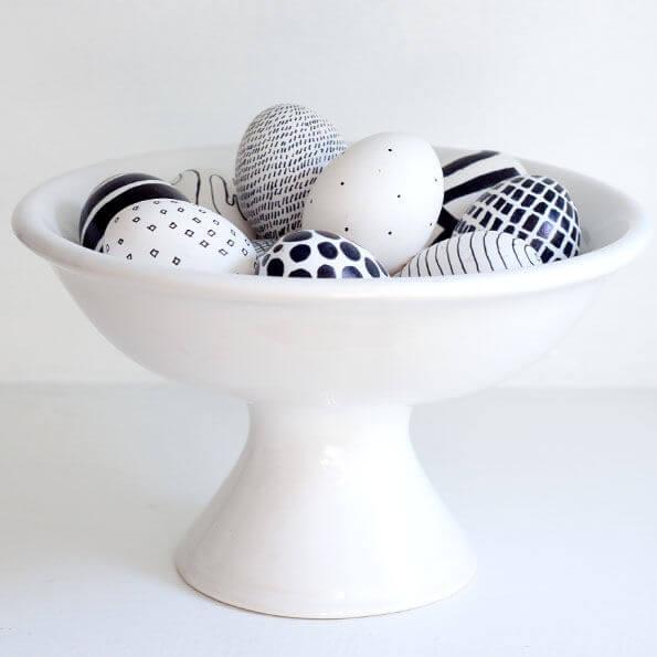 Black & White Easter Eggs