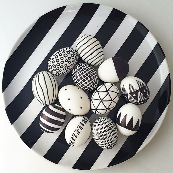 Black And White Easter Eggs 2