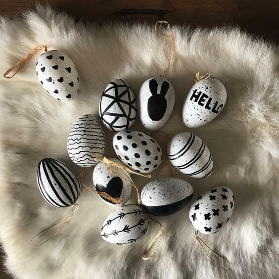 Black And White Easter Eggs 3