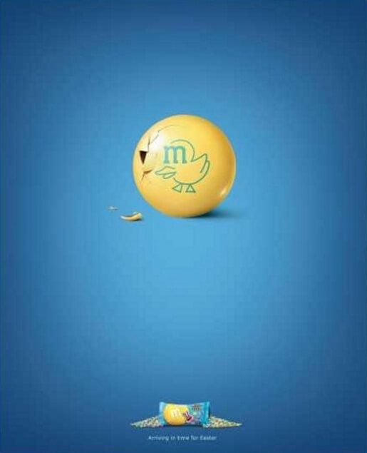 M&Ms Easter Egg Ad