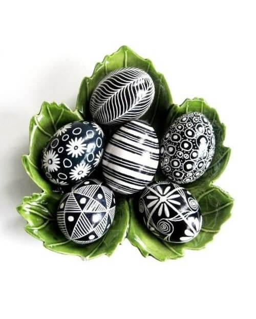 Beautiful Black And White Easter Eggs