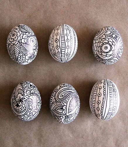 Black And White Easter Eggs Idea