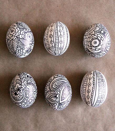 Black And White Easter Eggs Idea