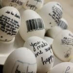 Black And White Easter Eggs With Quotes