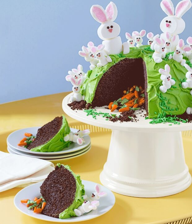Candy Filled Easter Cake