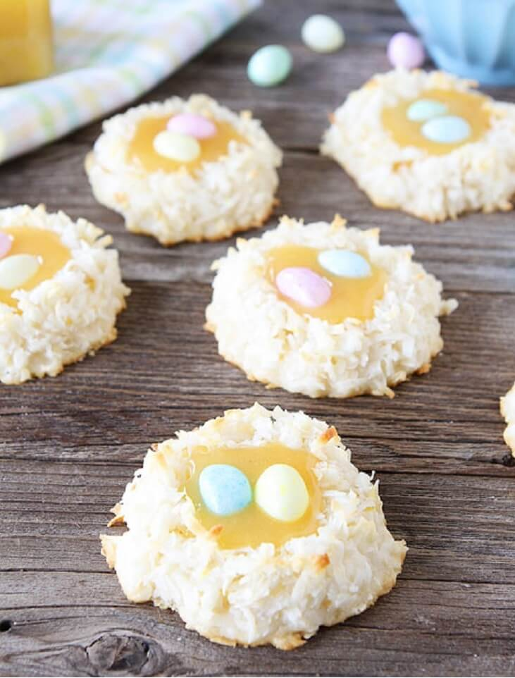 Coconut Lemon Macaroon Nests