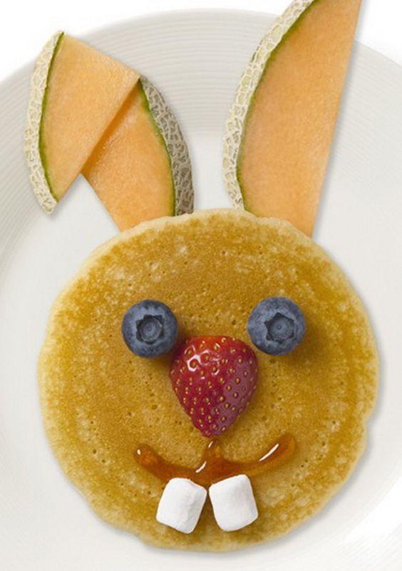 Easter Bunny Pancakes Idea