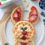 Easter Bunny Waffles Breakfast
